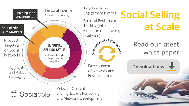 Discover the Social Selling White Paper by Sociabble