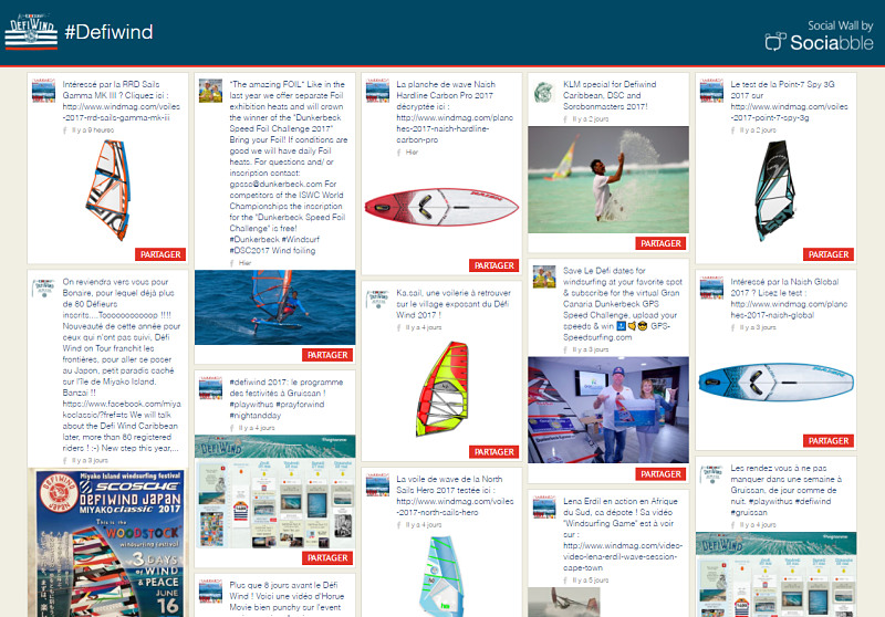 The Social Wall for Defi Wind by Sociabble