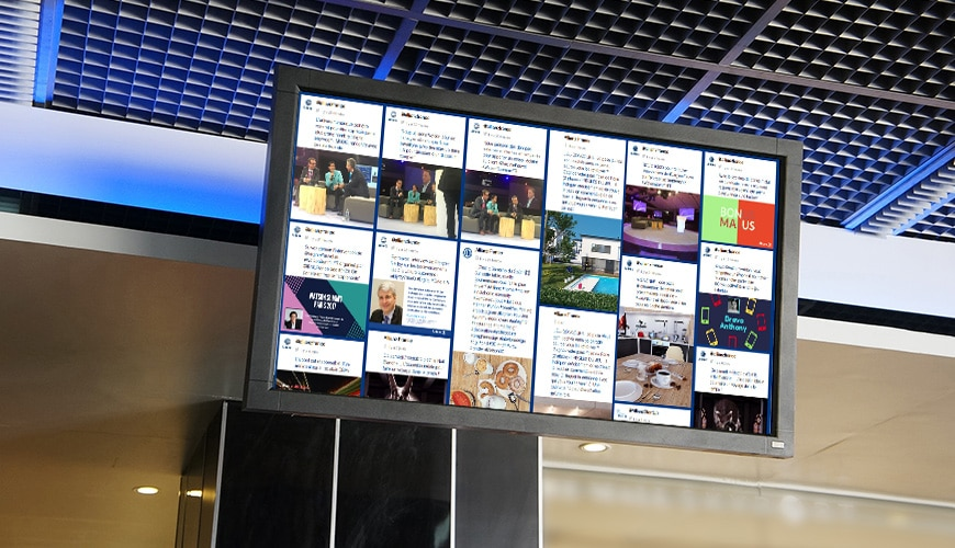 case study - allianz social wall sociabble