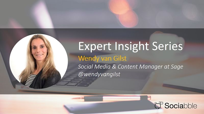 Expert Insight Series: Wendy van Gilst, Social Media and Content Manager, Sage