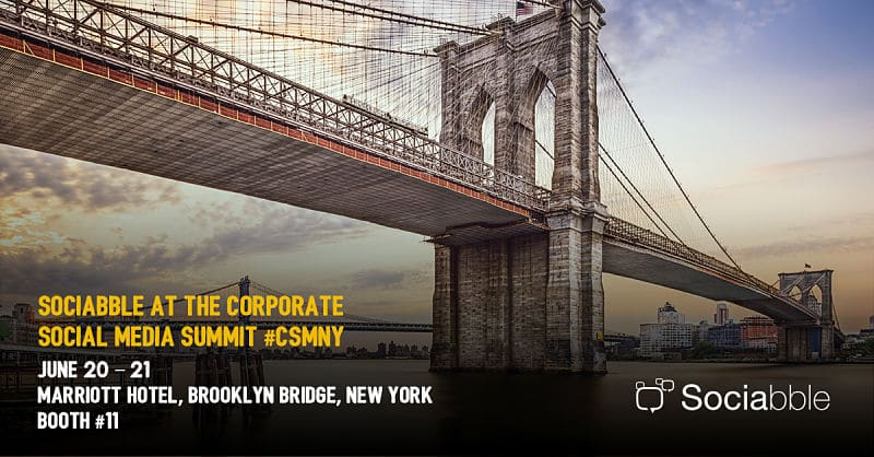 Sociabble Presents Employee Advocacy in Action at the Corporate Social Media Summit, New York