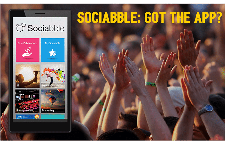 The Sociabble App Available for Android, iPhone and Windows Phone