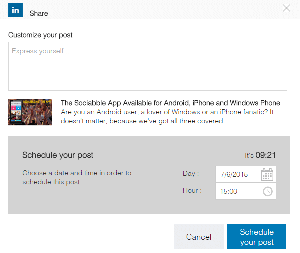 Timing Is Everything: Schedule Posts on Sociabble