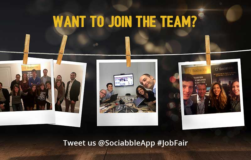 Want to Join the Sociabble Team? Connect with Us during the Twitter #JobFair