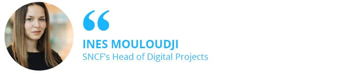 Ines Mouloudji, SNCF's Head of Digital Projects