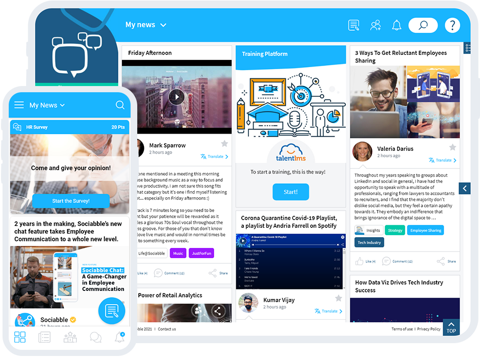 AN ENGAGING CONTENT HUB Snackable, visual, engaging content